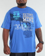 Men Brooklyn Tee (B+T) Blue 3X