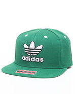 Men Adidas Originals Thrasher Snapback Cap Green