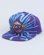 Men Utah Jazz Nba Earthquake Snapback Cap Purple