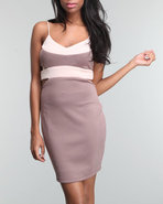 Women Cut Out Dress Pink X-Small