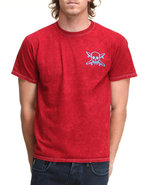 Men Mineral Wash Tee Red X-Large