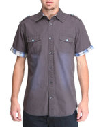 Men Sidewinder S/S Button-Down Grey X-Large