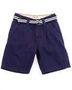 Boys Belted Chino Shorts (4-7) Navy 6
