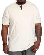 Men Thompson Y-Neck T-Shirt (B&amp;T) Off White 5X-Lar