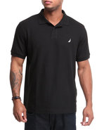 Men Solid Performance Polo Black Medium
