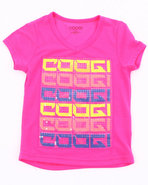 Coogi Girls V-Neck Logo Tee (4-6X) Pink 5-6