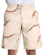 Men 5 Pocket Flat Front Shorts Camo 32