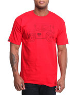 Men Crooks Mafia Tee Red Medium