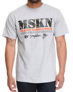Men Mskn Camo Printed Tee Grey X-Large