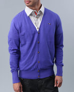 Men Cabana Double-Cardigan Blue X-Large