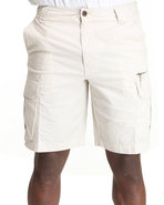 Men Ripstop Cargo Shorts Beige 34
