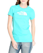 Women Half Dome Tee Blue Large