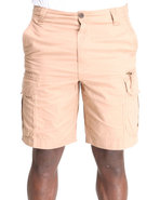 Men Ripstop Cargo Shorts Brown 34