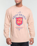 Akoo Men Est 1980 L/S Tee Tan 4X-Large