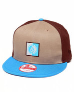 Men Volcom Embrace Color New Era Snapback Cap Khak