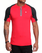 Men Bravara S / S Performance Top Red Medium