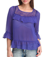 Women Rachel Top Blue Medium