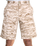 Men 5 Pocket Flat Front Shorts Camo 36
