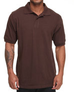 Men Pique Solid Polo Brown X-Large