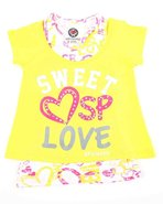 Girls Sweet Lover 2-Fer Top (Little Girls) Yellow