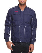 Men Ry Piped Nylon Jacket Navy Xx-Large
