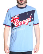 Coogi Men Patriot Games Tee Light Blue Xx-Large