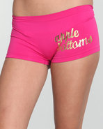 Women Wild Side Ab Seamless Boyshort Pink Large