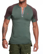 Men Bravara S / S Performance Top Green Medium