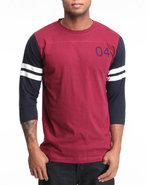 Men Malto 3/4 Sleeve Football Jersey Tee Maroon Me
