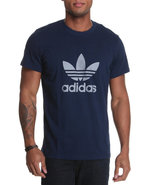 Men Adi Trefoil Tee Navy Medium