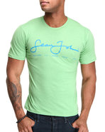Men S J Script Logo S/S Tee Green Large