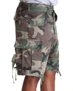 Men Woodland Vintage Rip Stop M-65 Field Shorts Ca