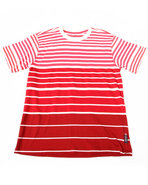Boys Y/D Stripe Crew Neck Tee (8-20) Red 8 (S)