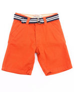 Boys Belted Chino Shorts (4-7) Orange 6