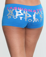 Women Fashionated Seamless Logo Short Blue Small