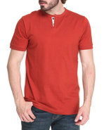 Men Thompson Y-Neck T-Shirt Red X-Large