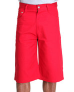 Men Steady Colour Twill Shorts Red 36
