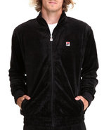 Men Velour Jacket Black Large