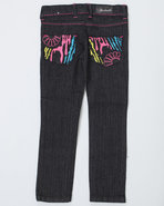 Girls Zebra Jeans (7-16) Black 12