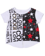 Coogi Girls Hi-Low Coogi Love Top (4-6X) White 4