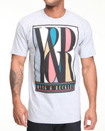 Men Y & R Deco S/S Tee Grey X-Large