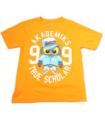 Boys S/S Owl Tee (8-20) Orange Medium