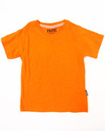 Boys Solid V-Neck Tee (4-7) Orange 4 (S)