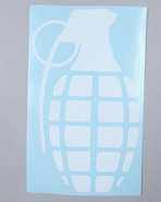 Men Grenade 8.5  Die Cut Sticker White