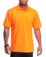 Men Neon Polo Orange 4X-Large