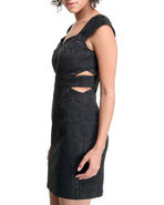 Xoxo Women Jacquard Cut-Out Dress Black 1/2