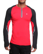 Men Bravara L / S Performance Top Red Xx-Large