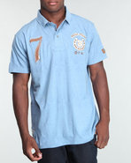 Men S/S Pelle Pelle Stencil Polo Blue Medium