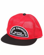 Men Saxon Mesh Snapback Cap Black