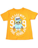 Boys S/S Owl Tee (4-7) Orange 4